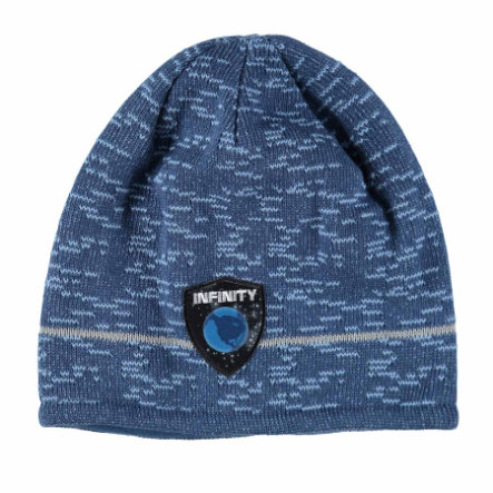 maximo Boys Beanie Space grafiet blauw