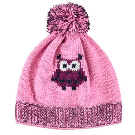 maximo Girl cappello di gufo rosa fioritura/auberginemelliert