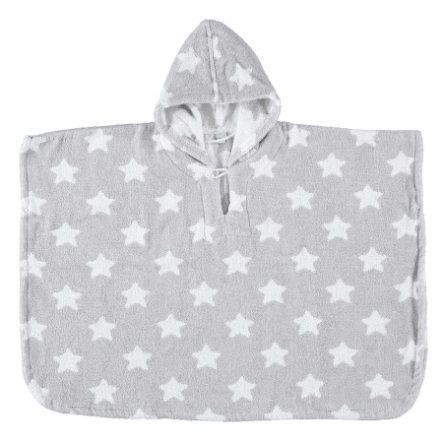 LITTLE Poncho STARS gris