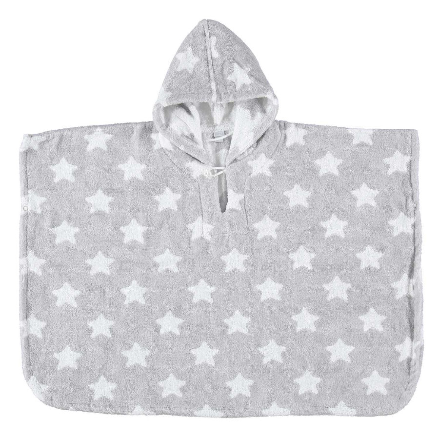 LITTLE Poncho STARS grau