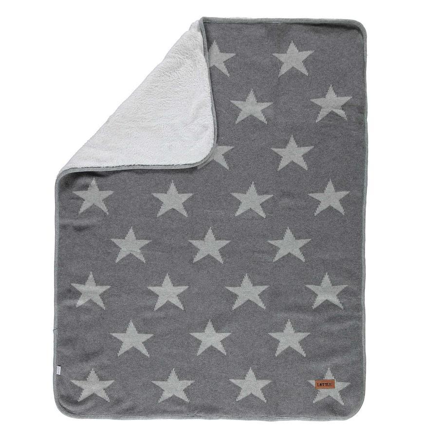 LITTLE  Couverture Jacquard STAR Story de marche à quatre pattes 75x100 cm