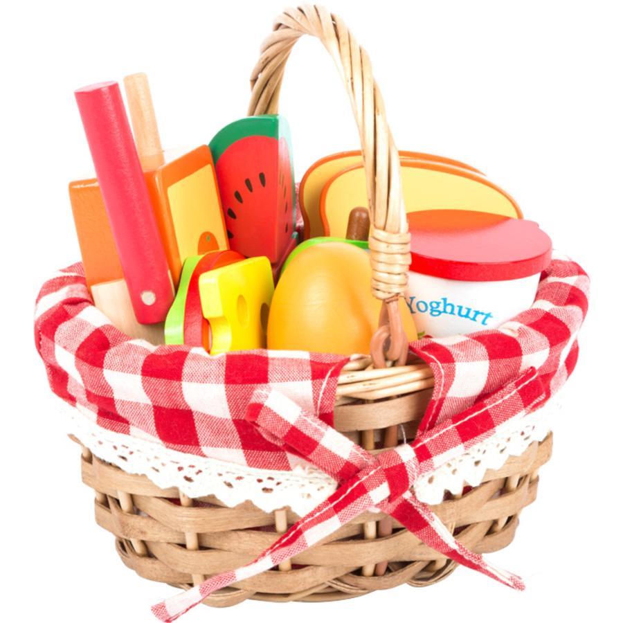 small foot® Picknickmand met 'snijbaar' eten