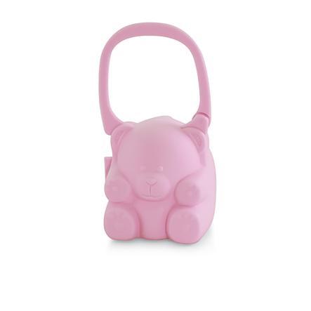 miniland pacikeeper Contenitore per ciuccio con maniglia per il trasporto pink