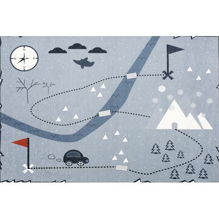 LIVONE Barnmatta Happy Rugs Love you, blå, 100 x 160 cm