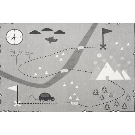 LIVONE play a dětský koberec Happy Rugs Love you treasure map, šedá, 100 x 160 c
