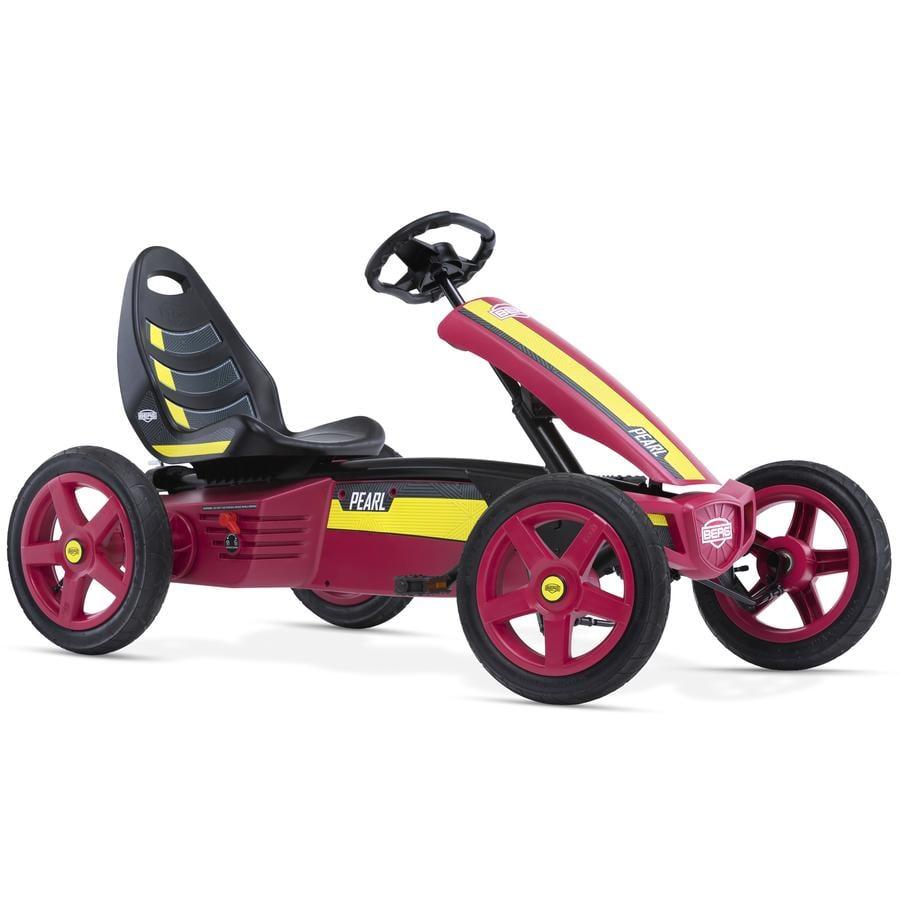 BERG Kart à pédales enfant Rally Pearl, rouge/jaune