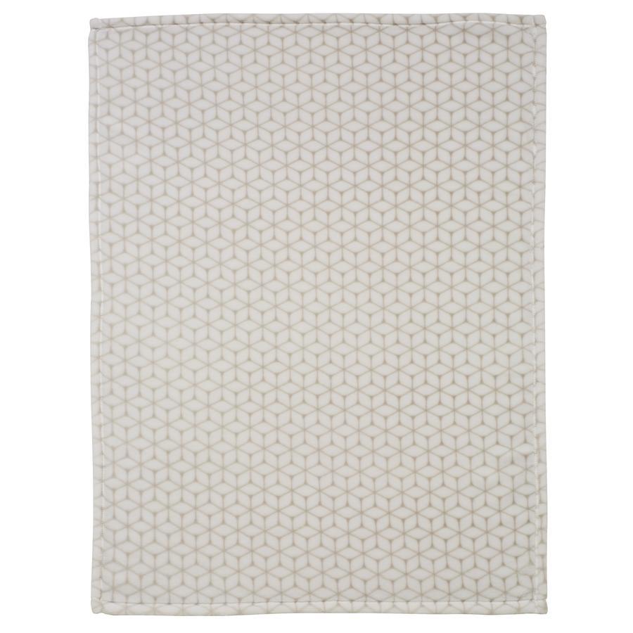 Alvi® Couverture microfibres losanges taupe 75x100 cm