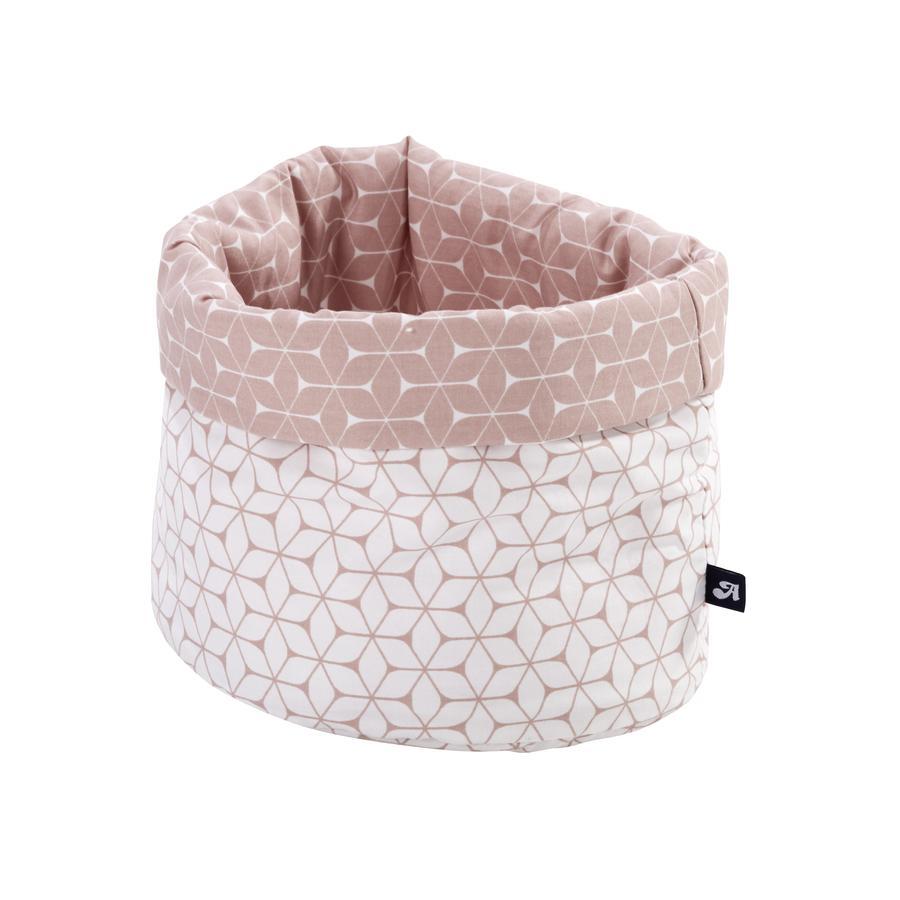 Alvi látkový košík oválný růžový