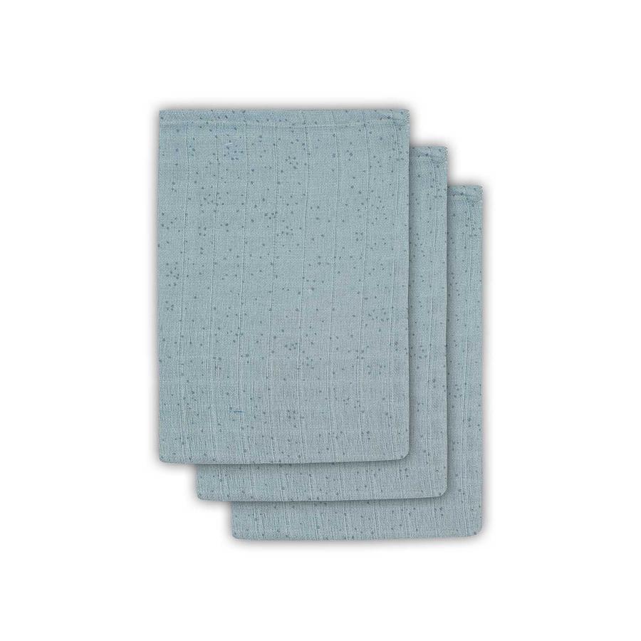 jollein Ścierka do prania 3-pakowana Mini Dots Stone Green