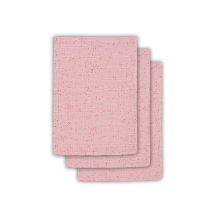 jollein Paquete de 3 toallitas húmedas Mini Dots Blush Pink