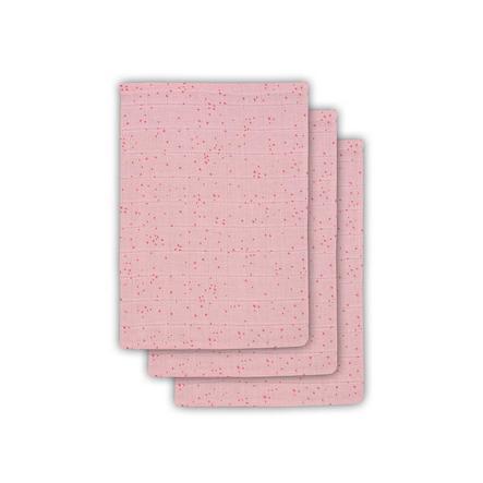 jollein Waschlappen 3er-Pack Mini Dots Blush Pink