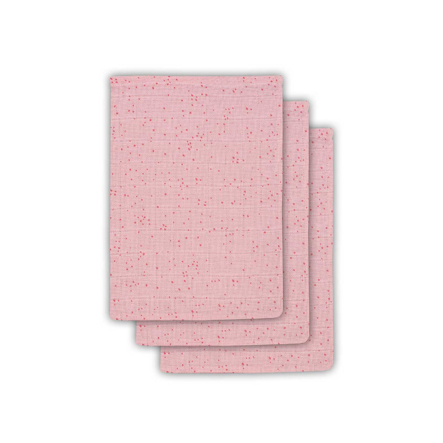 jollein Washandje 3 stuks Mini Dots Blush Pink