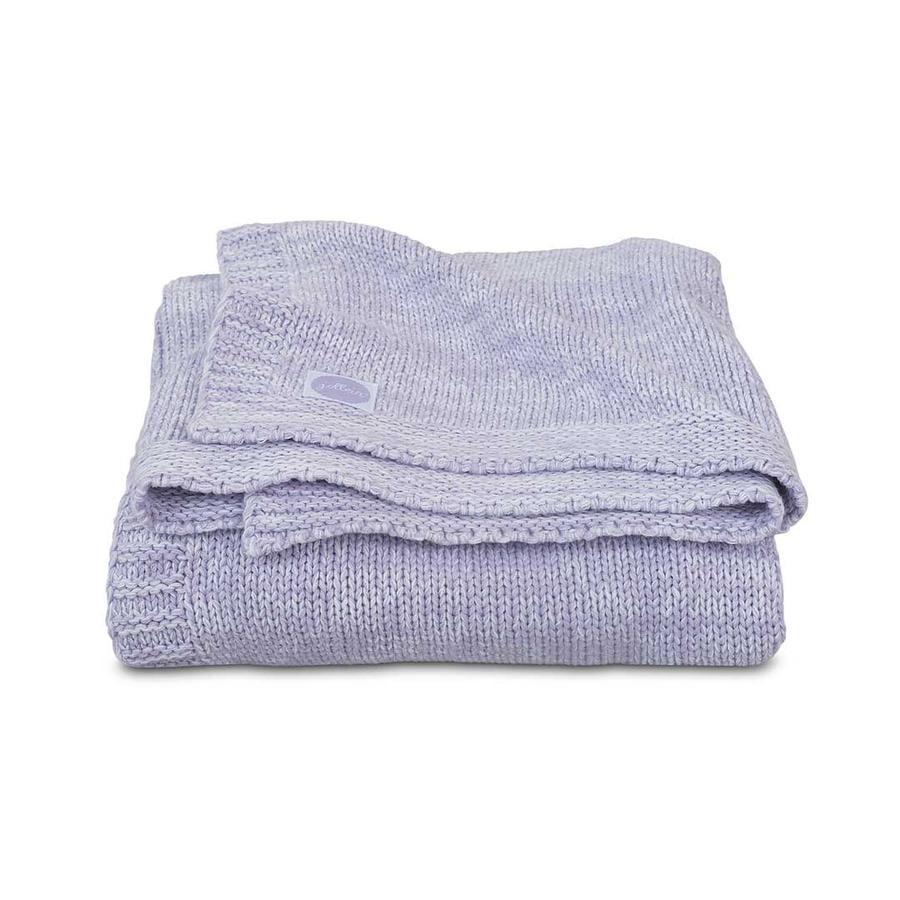 jollein Filt, stickad Melange Knit Soft Lilac 75x100cm