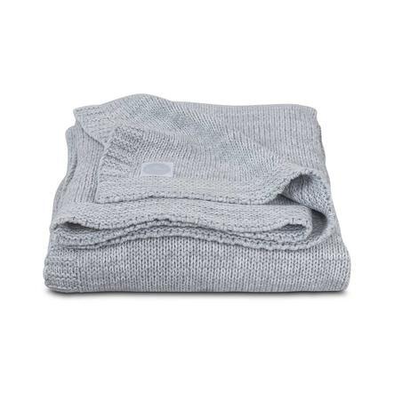 jollein Strickdecke Melange Knit Soft Grey 100x150cm