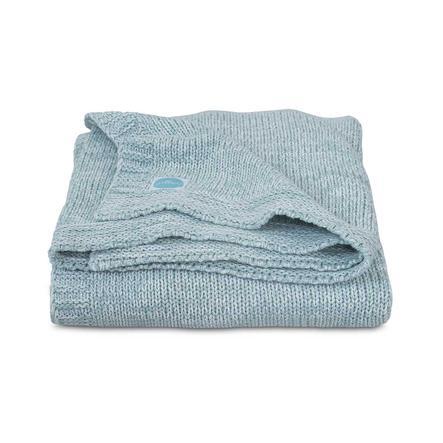 jollein Filt, stickad Melange Knit Soft Green 100x150cm
