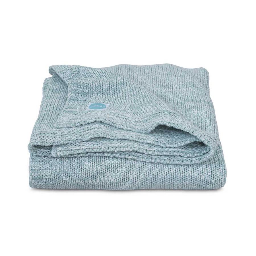 jollein Couverture bébé tricot mélange knit soft vert 100x150 cm