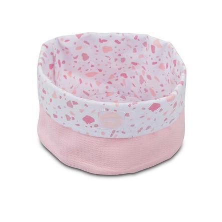 jollein Panier rangement jouets Tiny gaufré rose