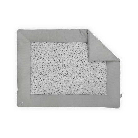jollein Mata do raczkowania Tiny Waffle Soft Grey 80x100 cm