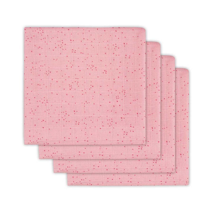 jollein Mullwindeln 4er-Pack 70x70cm Mini Dots Blush Pink