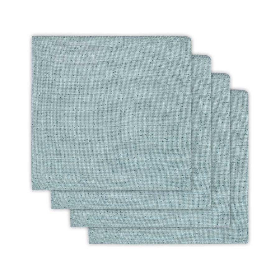 jollein Mullwindeln 4er-Pack 70x70cm Mini Dots Stone Green