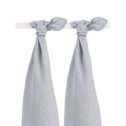 jollein Mullwindeln 2er-Pack 115x115cm Mini Dots Mist Grey