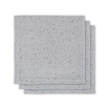 jollein Manta Mini Dots Mist de 3 paquetes Grey