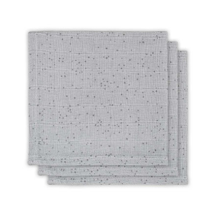 jollein Mundtuch 3er-Pack Mini Dots Mist Grey