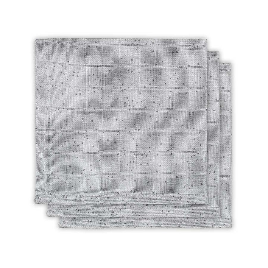 jollein Teppe 3-pakts myi Dots Mist Grey
