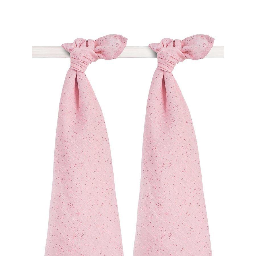 jollein Mullwindeln 2er-Pack 115x115cm Mini Dots Blush Pink