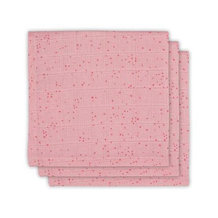 jollein Coperta 3-pack Mini Punti Blush Pink