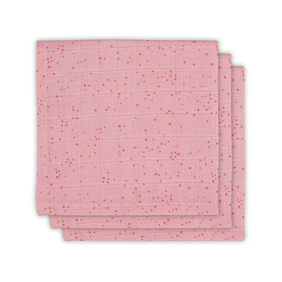 jollein Monddoek 3 stuks Mini Dots Blush Pink