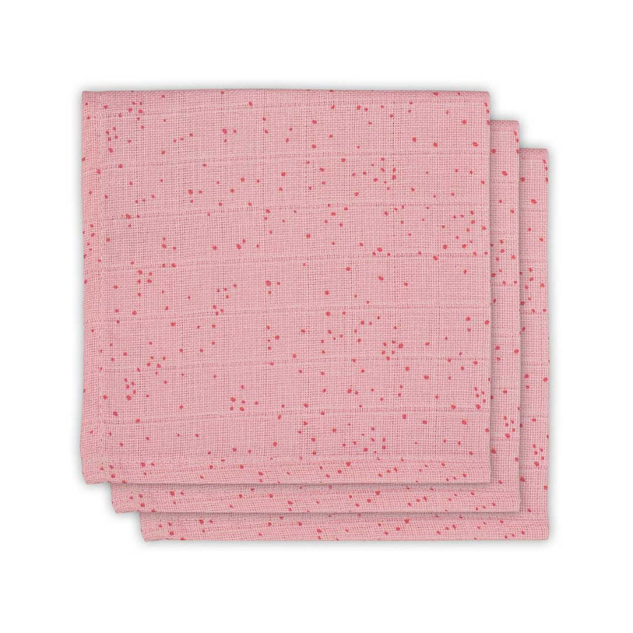 jollein Serwetki/pieluszki 3 szt. Mini Dots Blush Pink