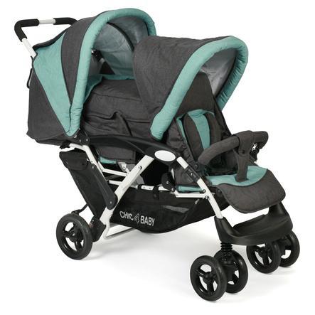 CHIC 4 BABY Wózek dla rodzeństwa DUO Melange mint