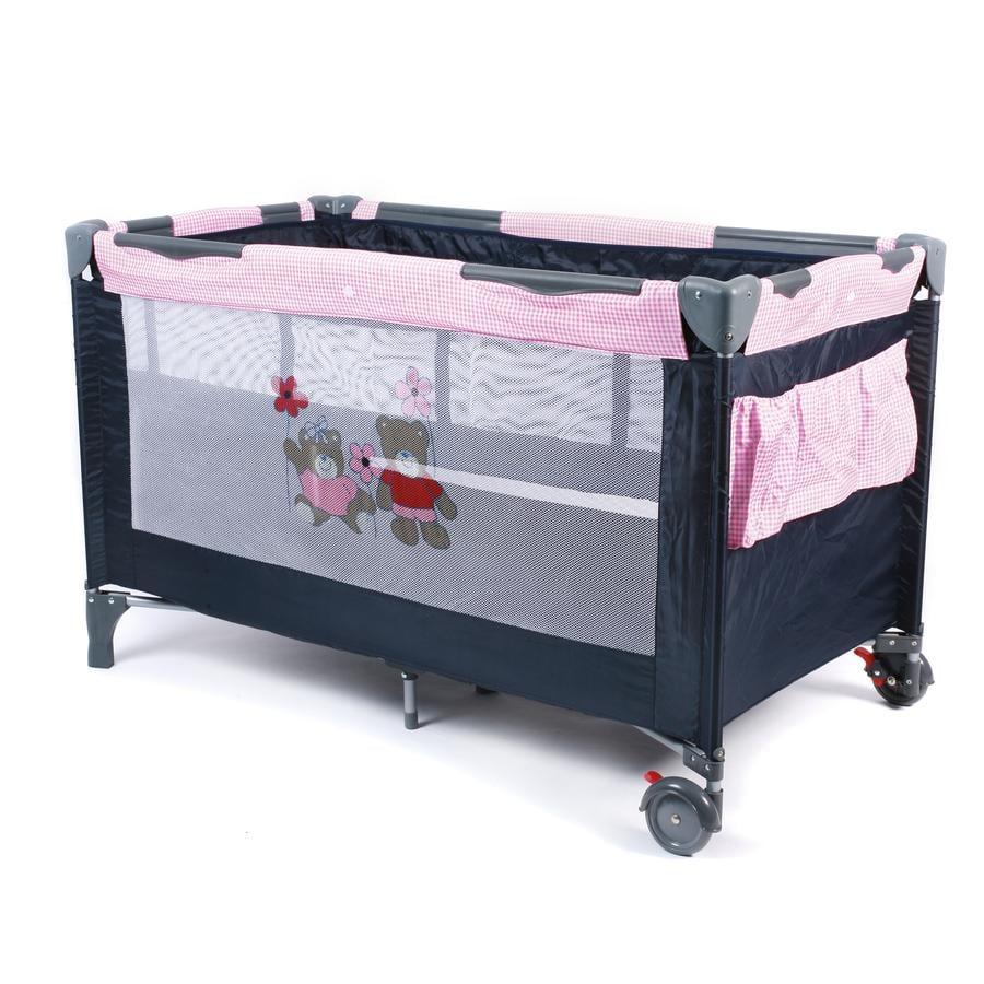 CHIC 4 BABY Cestovní postýlka LUXUS Pink Checker