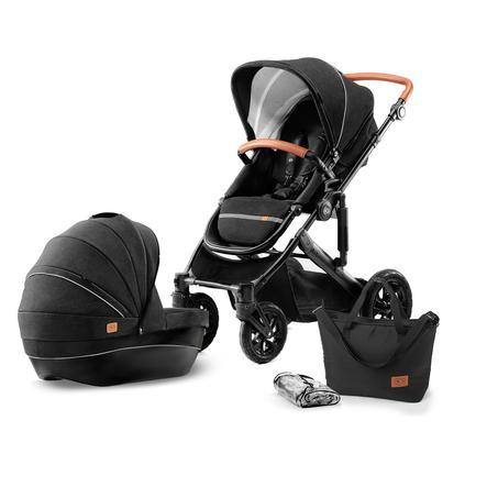 Kinderkraft Barnvagn Prime med tillbehör svart