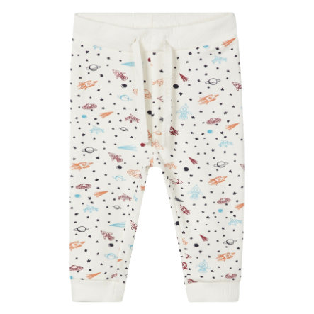 name it Boys Sweatbroek Remme sneeuwwitte broek