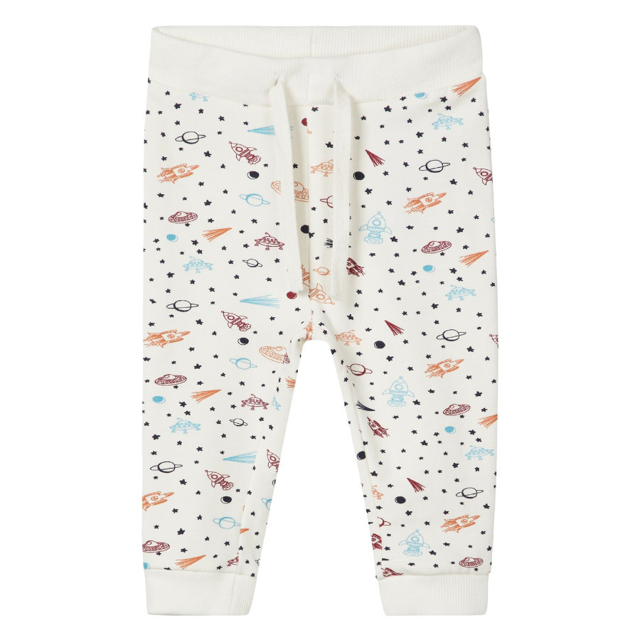 name it Boys Pantalon de survêtement Remme blanc neige