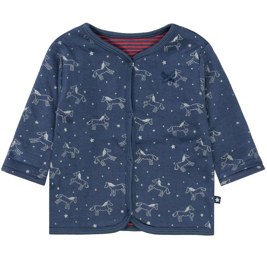 STACCATO Girl kurtka soft odwracalna w kolorze marynarki wojennej z wzorzystym wzorem