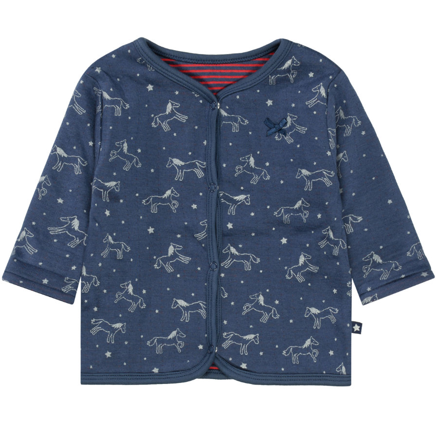 STACCATO Girl s chaqueta soft reversible con estampado azul marino