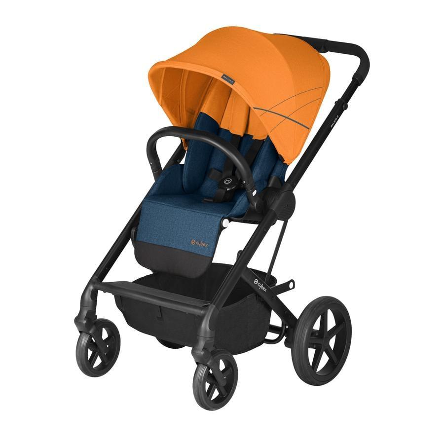 cybex GOLD Kinderwagen Balios S und Kinderwagenaufsatz Cot S Tropical Blue