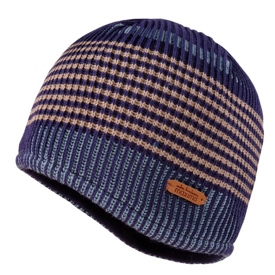maximo Chlapecká čepice pruhovaná navy-lamb