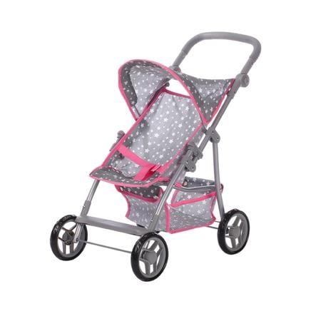 knorr® toys Silla de paseo para muñecas Liba - Star grey