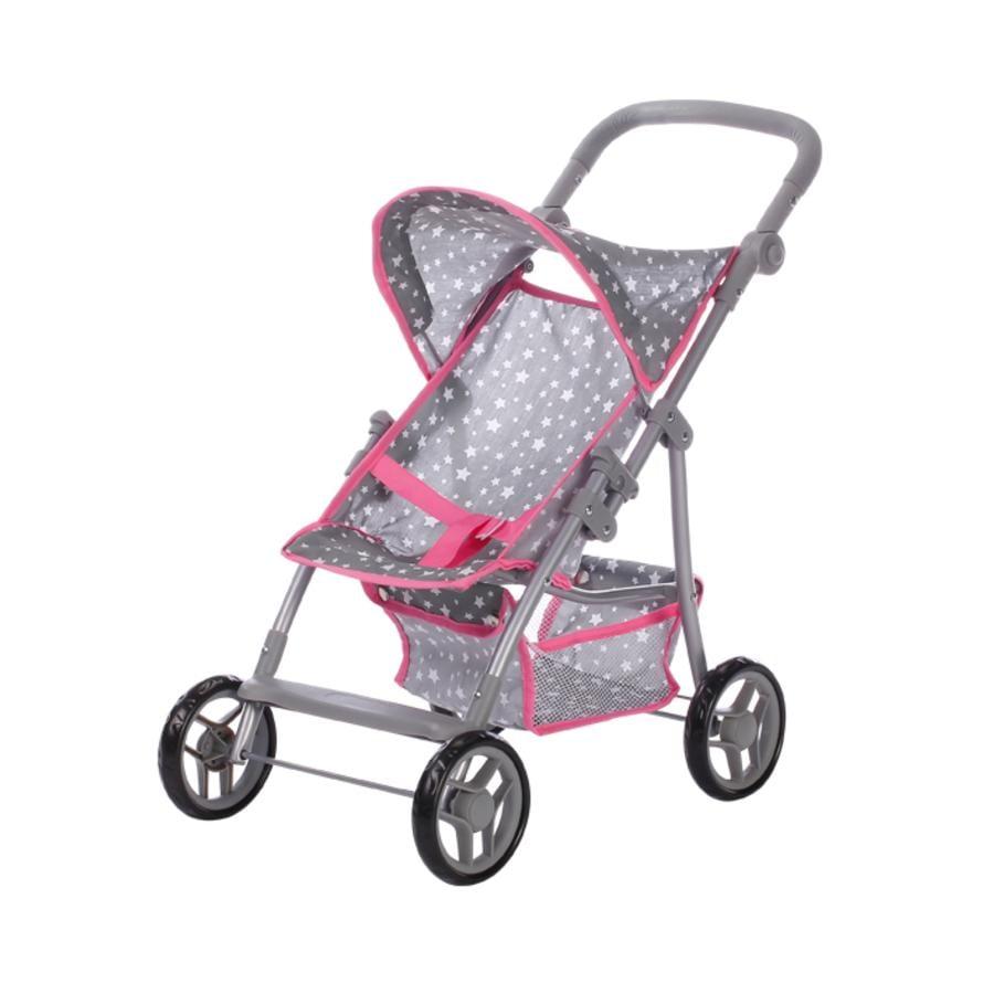 knorr® toys Wózek spacerowy dla lalki Liba - Star grey