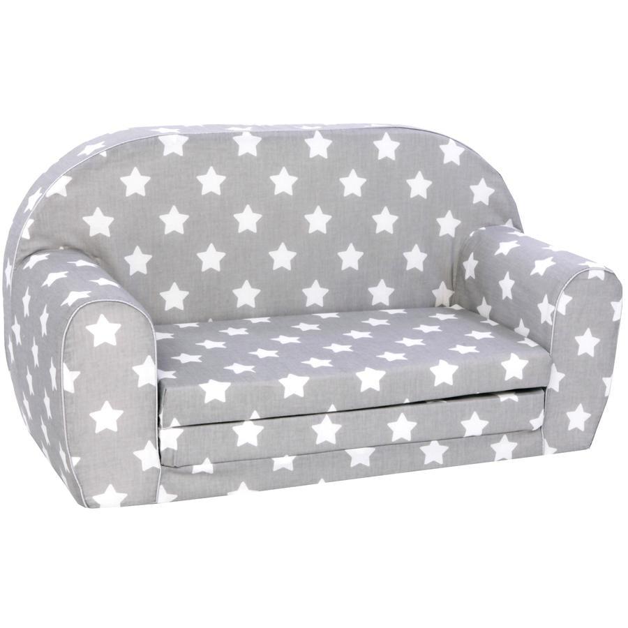 knorr® toys barnesofa Stjerner, grå / hvit