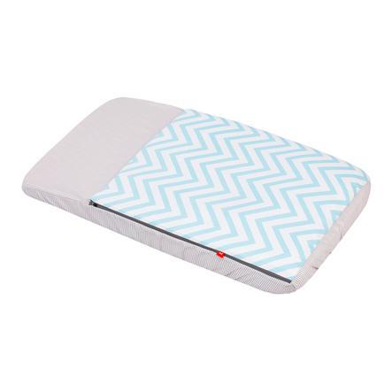 cambrass Schlafsack mit integrierter Matratze 49,5 x 83,5 cm be Zigzag himmelblau