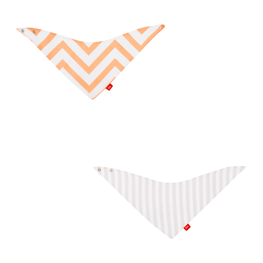 cambrass Bavoir enfant be zigzag orange, lot de 2