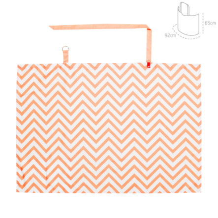 cambrass Chusta do karmienia be Zigzag orange 92x65cm