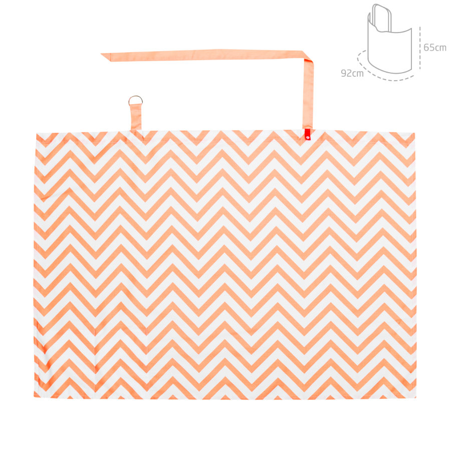 cambrass Stillschürze be Zigzag orange 92x65cm