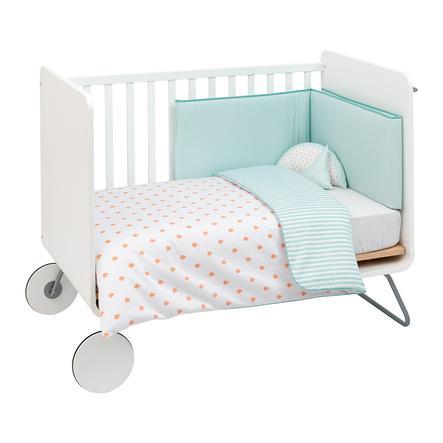 cambrass Bed set 4 díly 110x140cm být meloun oranžový