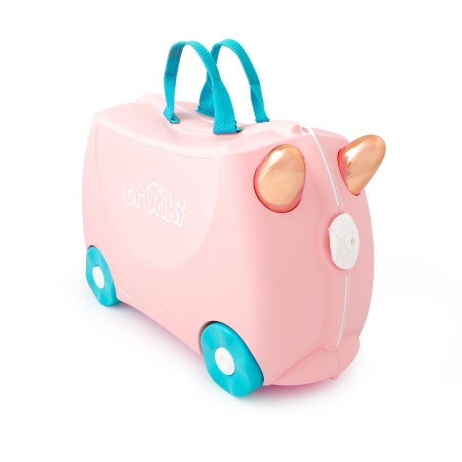 trunki dětský kufřík + odrážedlo Flamingo Flossi